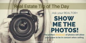 Photos when selling a home