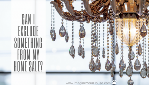 Can I exclude my light fixture from home sale?