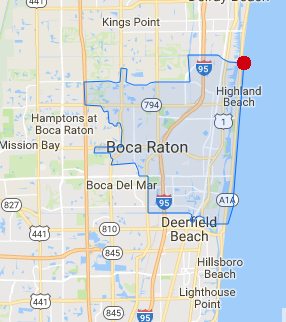 Map Of Florida Showing Boca Raton.City Of Boca Raton Map Coral Springs Real Estate And Boca Raton