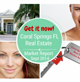 Coral Springs FL Real Estate Market Report Sept 2014