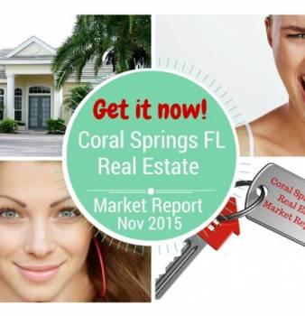 Coral Springs Real Estate Report for Nov 2015